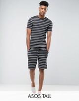 Asos Tall Pyjama Set With Stripes