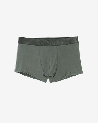 Express Solid Moisture-Wicking Supersoft Sport Trunks