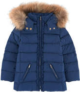Tartine et Chocolat Padded jacket with a removable fur trim