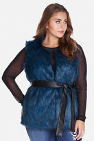 Fashion to Figure Alps Belted Faux Fur Vest