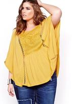 Addition Elle L&L Short Sleeve Blouse with Lace