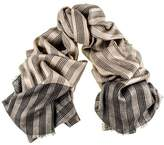 Black Regent Merino Wool and Silk Scarf