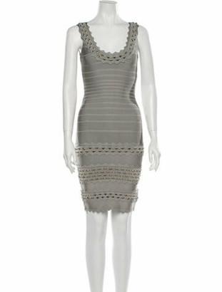 Herve Leger Saige Mini Dress w/ Tags Grey