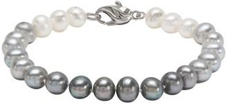 Honora Sterling Gray & White Ombre Pearl Bracelet