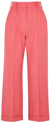 Racil Charlie pink satin-twill trousers