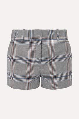 Veronica Beard Lena Prince Of Wales Checked Cotton-blend Shorts - Gray