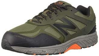 New Balance Men's 510v4 Cushioning Trail Running Shoe, Dark Covert Green/Phantom/Bengal Tiger