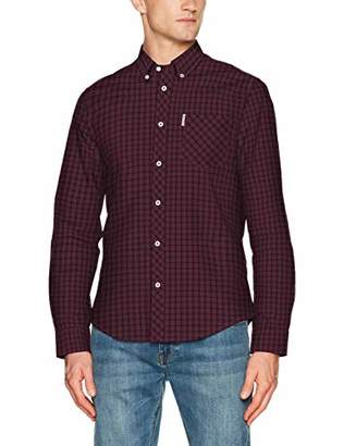Ben Sherman Men's LS House Check Shirt Casual,Large (Size: L)