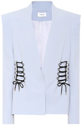 Thierry Mugler Embellished crepe blazer