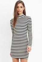 Forever 21 Mock Neck Striped Dress