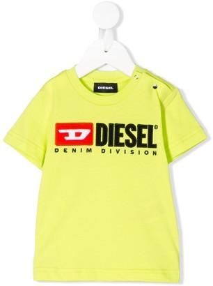 Diesel embroidered logo crew-neck T-shirt