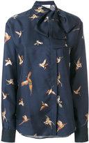 Mulberry pussybow bird patch shirt - women - Silk - 42