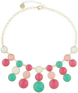 Liz Claiborne Multi Color 17 Inch Cable Statement Necklace