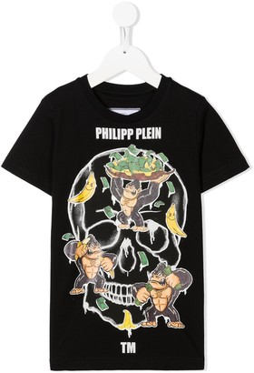 Philipp Plein Junior King Plein skull T-shirt