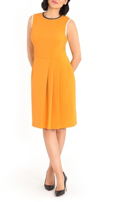 Maggy London Faux Side Wrap Sheath Dress