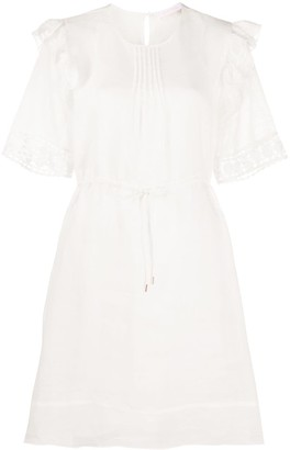 See by Chloe Embroidered Drawstring-Waist Dress