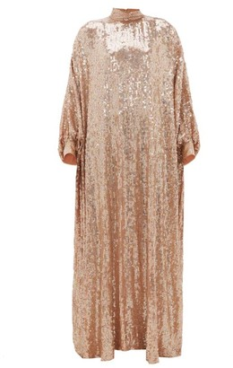 Ashish Sheela High-neck Sequinned-georgette Tent Dress - Womens - Nude