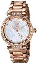 Jivago Women's JV2218 Bijoux Analog Display Swiss Quartz Rose Gold Watch