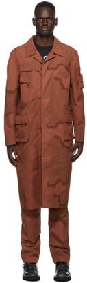 Marine Serre Orange Regenerated Military Coat