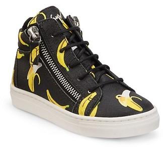 Giuseppe Zanotti Girl's Banana High-Top Sneakers