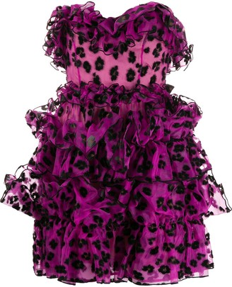 Christopher Kane Ruffled Mini Dress