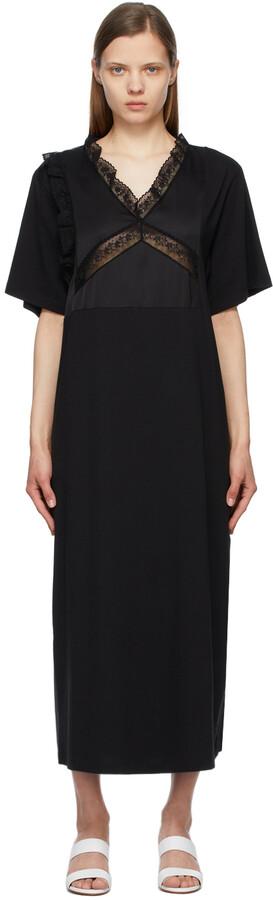 MM6 MAISON MARGIELA Black Combo Tee Dress