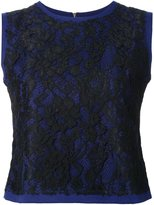 GUILD PRIME sleeveless lace blouse - women - Rayon - 34