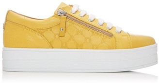 Moda In Pelle Aliamoda Yellow Leather