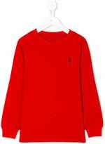 Ralph Lauren classic logo knitted top - kids - Cotton - 2 yrs
