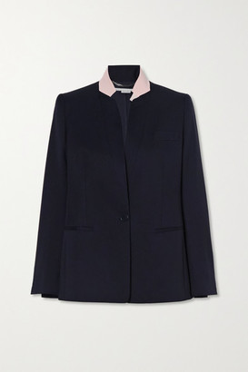 Stella McCartney Florence Two-tone Wool Blazer - Navy