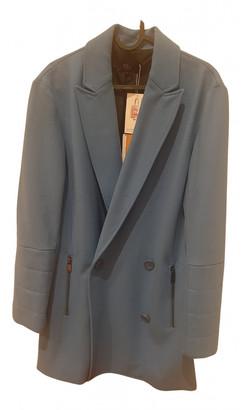 Tibi Blue Wool Coats