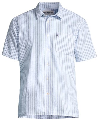 Barbour Seaside Summer Short-Sleeve Seersucker Striped Shirt