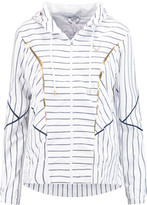 Lucas Hugh Striped shell hooded jacket