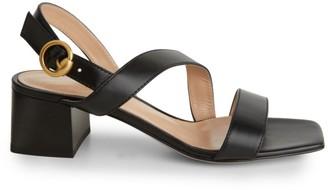 Gianvito Rossi Leather Block-Heel Sandals