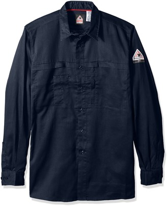 Bulwark Fr Bulwark Men's Iq Series Comfort Woven Concealed Pocket Shirt Big and Tall