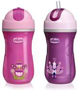 Chicco NaturalFit® 2-Pack Insulated Flip Top 9 oz. Straw Cup in Pink/Purple