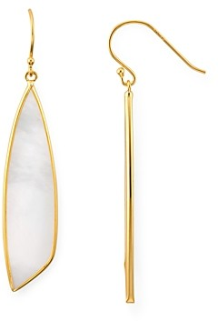 Argentovivo Mother-of-Pearl Drop Earrings in 18K Gold-Plated Sterling Silver