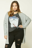 Forever 21 FOREVER 21+ Plus Size Marled Knit Cardigan