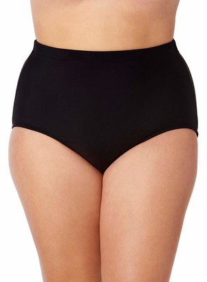 Penbrooke Women's Plus-Size Solid Girl Leg Bottom