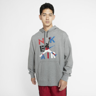 Jordan Retro 4 Hoodie Sweatshirt - Carbon Heather / Black