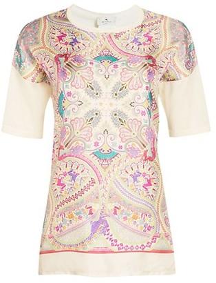 Etro Vulcano Silk Faced Paisley T-Shirt
