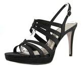 Adrianna Papell Anita Women Open Toe Synthetic Black Platform Heel.