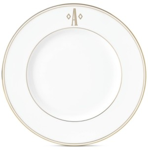 Lenox Federal Gold Monogram Accent Plate, Block Letters