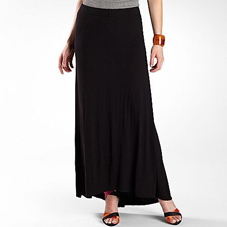 JCPenney Worthington® High-Low Maxi Skirt Orange Combo