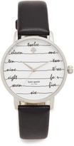 Kate Spade Chalkboard Leather Watch