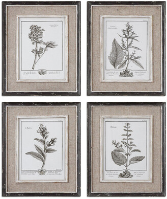 Uttermost Set Of 4 Casual Grey Study Framed Art