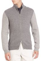Brunello Cucinelli Zip-Front Baseball Sweater