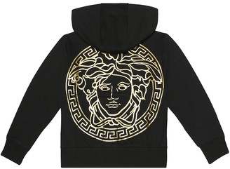 Versace Kids Medusa cotton hoodie