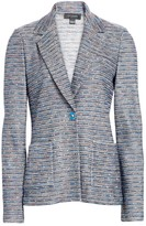 St. John Space-Dyed Tweed Knit Jacket