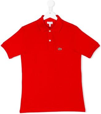 Lacoste Kids Logo Embroidery Polo Shirt
